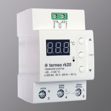 Терморегулятор Terneo rk20 (16А) с выносным датчиком t